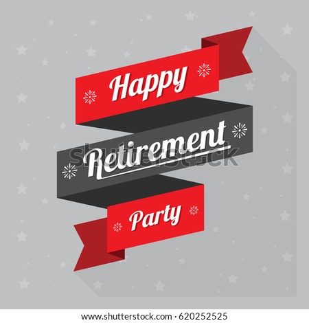 Happy retirement logo banner design red stock photo photo vector happy retirement logo banner design with red ribbon stopboris Images