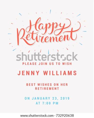 Happy retirement party invitation stock vector 732920638 shutterstock stopboris Gallery