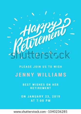 Happy retirement party invitation template stock vector hd royalty happy retirement party invitation template stopboris Image collections