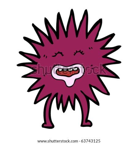happy sea urchin cartoon stock vector 63743125 shutterstock rh shutterstock com sea urchin clipart black and white