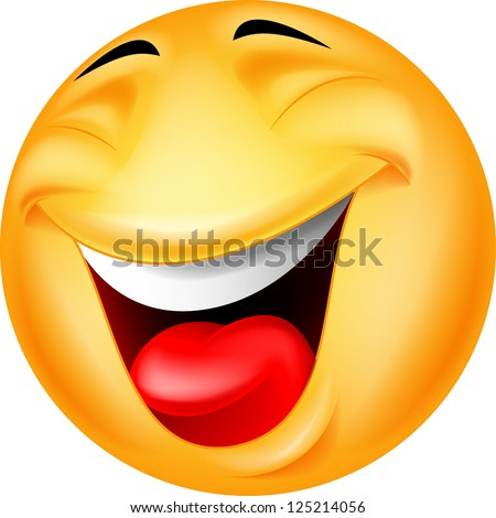 Happy smiley face - stock vector