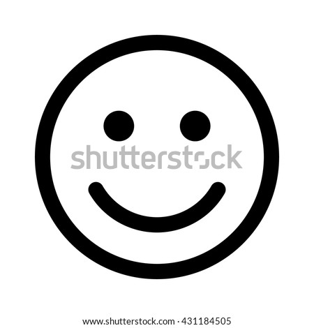 happy smiley face emoticon line art stock vector 2018 431184505 rh shutterstock com happy face vector png happy face vector icon