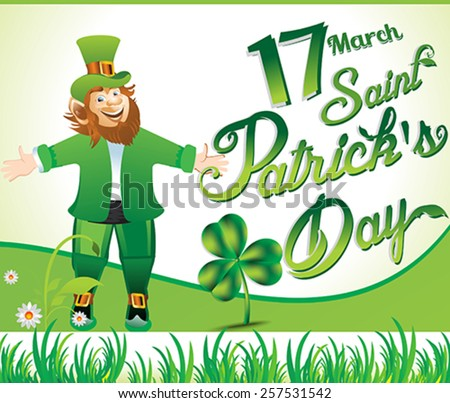 happy st Patrick's day background vector illustration  - stock vector