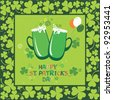 Happy St. Patrick's Day card. vector illustration - stock vector