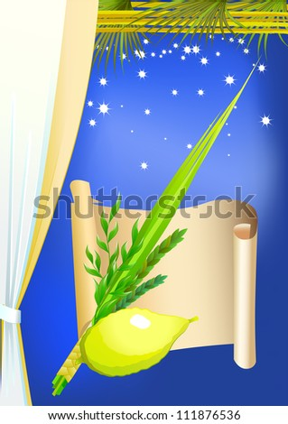 Happy Sukkot - stock vector