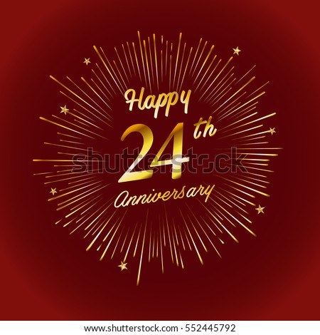happy 25th anniversary fireworks star on stock vector 25th anniversary logo vector free download 25th anniversary logo vector free