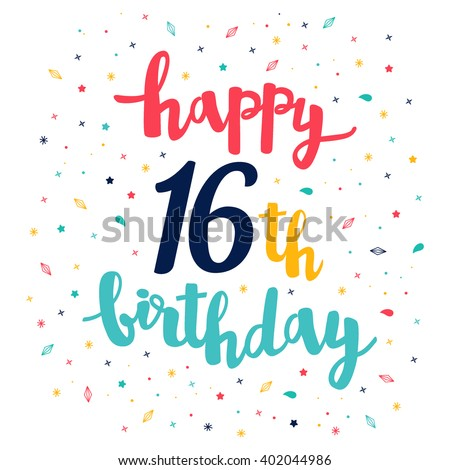 16th Birthday Images RoyaltyFree Images Vectors – Happy Sweet 16 Birthday Cards