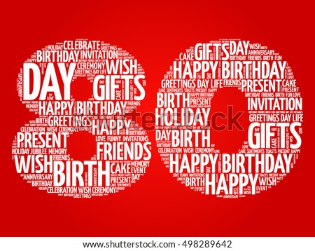 Happy 80th birthday word cloud collage stock photo photo vector happy 80th birthday word cloud collage concept m4hsunfo