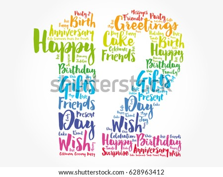 Happy 12th Birthday Stock Images Royalty Free Images