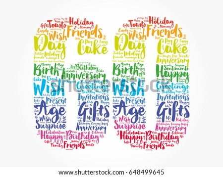 Happy 60th Birthday Word Cloud Collage Stock Vector ...