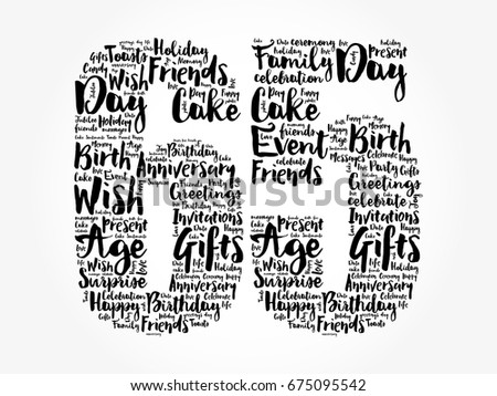 65th Birthday Images RoyaltyFree Images Vectors – 65th Birthday Invitations
