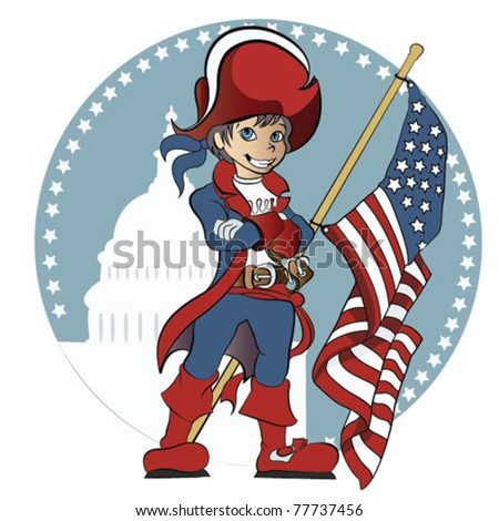 Happy 4th of July! Celebrate America's Birthday - stock vector
