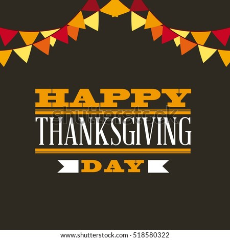 happy thanksgiving card with decorative pennats. colorful design. vector illustration