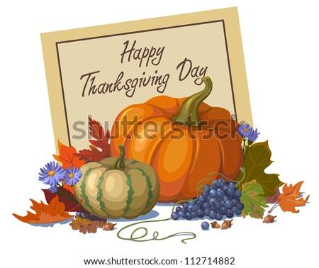 Happy Thanksgiving Day/Autumn Decoration - stock vector