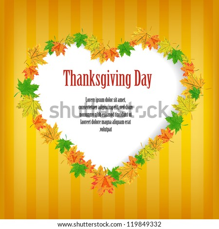 Happy Thanksgiving Day card - stock vector