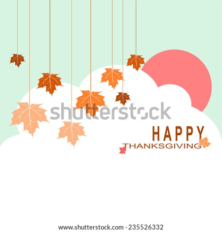 Happy Thanksgiving Day celebrations greeting card design. - stock vector