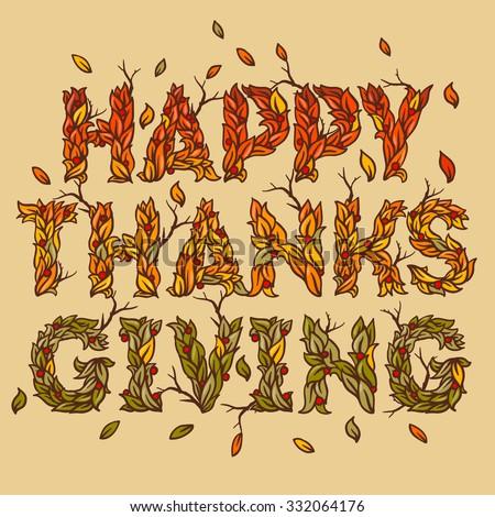 Happy thanksgiving day, vector illustration. - stock vector