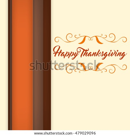 Happy Thanksgiving logo, banner, flayer, card, badge and elegant style icon. Logo Template Thanksgiving.  For use as logos on cards, in printing, posters, invitations, web design and other purposes.