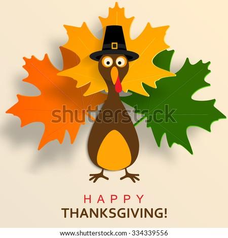 Happy Thanksgiving Turkey - stock vector