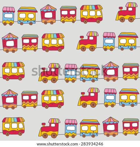 happy train cartoon card