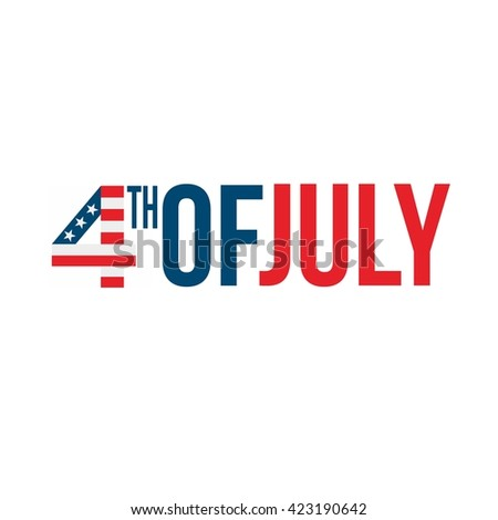 Happy USA Independence Day 4 th July. Greeting card and poster Design - stock vector