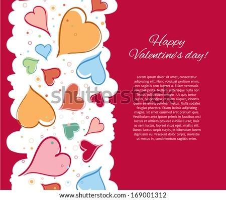 Happy Valentine Day Card. Vector illustration. - stock vector