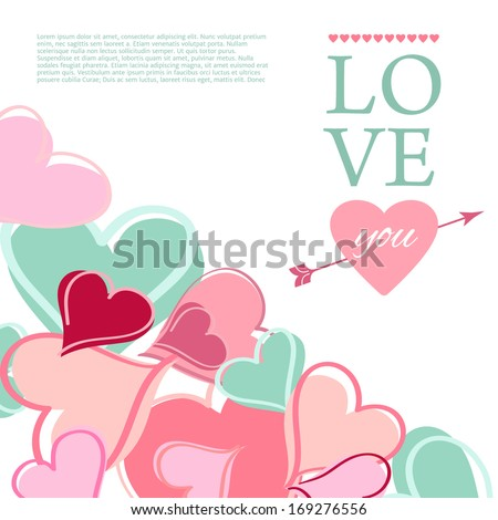 Happy Valentine Day Card. Vector illustration.
