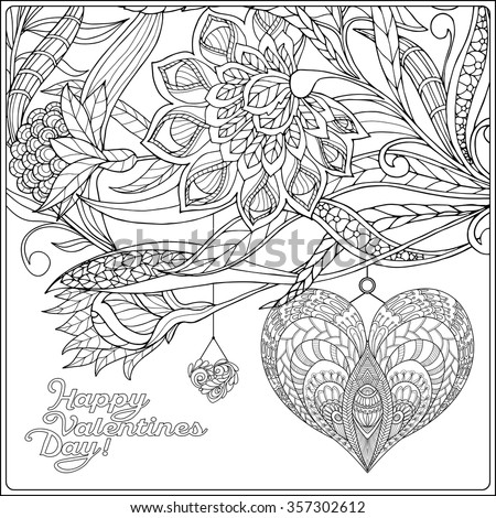 Valentine coloring pages for older kids ~ Stock Images, Royalty-Free Images & Vectors   Shutterstock