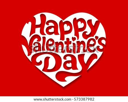Happy valentine day greetings heart shape stock vector 2018 happy valentine day greetings in a heart shape vector illustration m4hsunfo