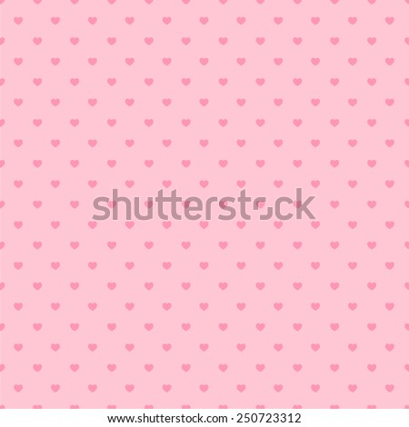 Happy Valentine Pink Background Pattern - stock vector