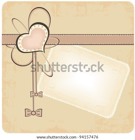 Happy Valentine postcard - stock vector