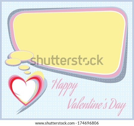 Happy Valentine's Day. All major elements are placed on separate layers. Easy to edit. - stock vector