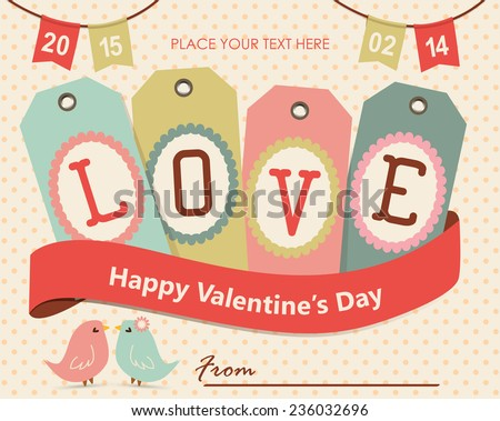 Happy Valentine's day card - stock vector