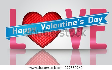 Happy Valentine's day card. Shiny red hearts and light vector background. vector illustration. text box. Brochure. card. banner flyer magazine. Design label.