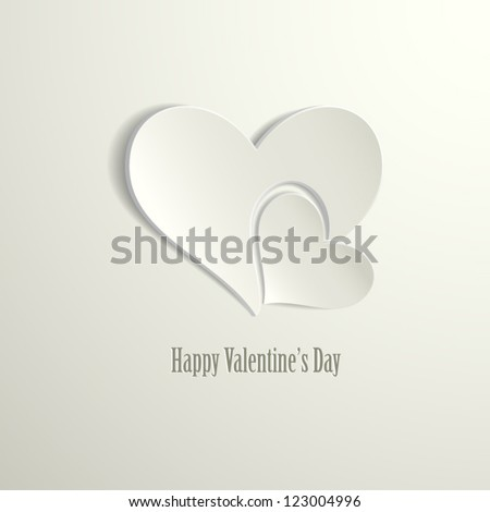 Happy Valentine's Day card vector illustration - stock vector