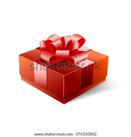 Happy Valentine's day gift, isolated on white background, vector illustration