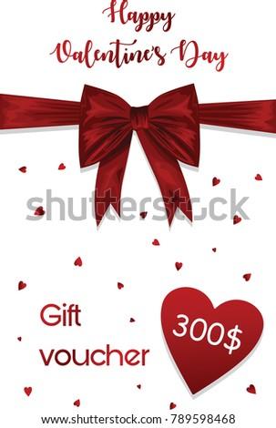 happy valentines day gift voucher 300 stock vector 789598468, Ideas