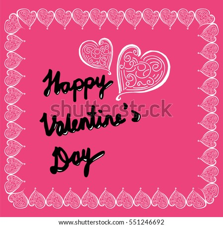 Happy Valentine's Day, greeting card