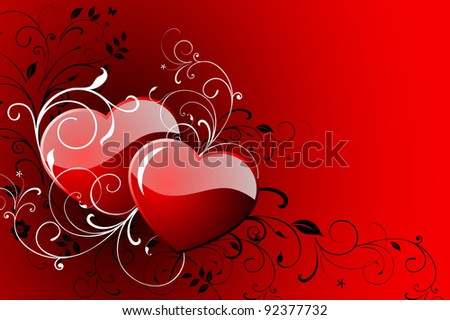Happy Valentine's day greeting card. - stock vector