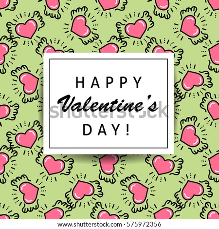 valentines day greeting card template unusual stock vector 367654433 shutterstock. Black Bedroom Furniture Sets. Home Design Ideas