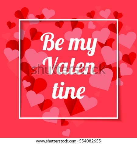 Happy valentines day greeting card valentine stock vector 554082655 happy valentines day greeting card the valentine day on a pink background with red hearts m4hsunfo