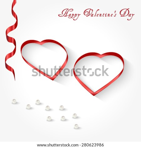 Happy Valentine's Day greeting cards on white background