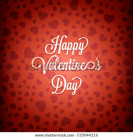Happy Valentines Day Message On Red Vector 533044225 – Happy Valentines Card Messages