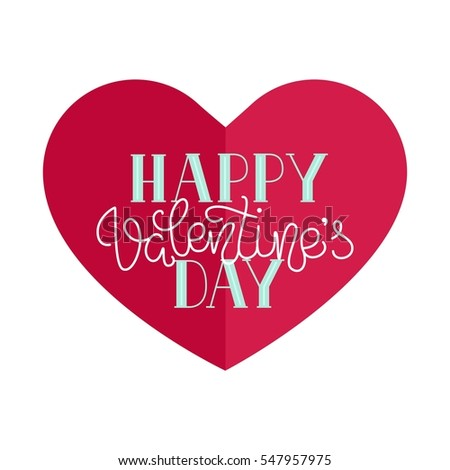 Happy valentines day simple greeting card stock vector 547957975 happy valentines day simple greeting card stock vector 547957975 shutterstock m4hsunfo