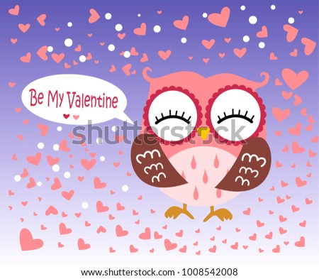 Happy Valentines Day Valentines Day Card Stock Vector 1008542008 ...
