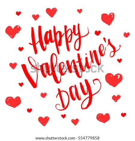 Happy Valentines Day Vector Illustrator Background Stock Vector