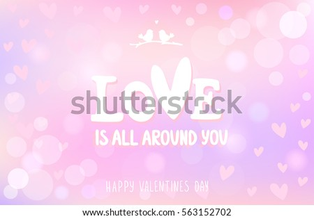 Valentines Day Background Vector Eps10 Stock Vector 562562698 ...
