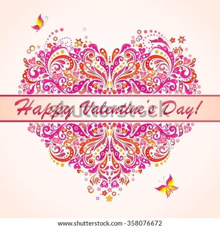 Happy Valentines Day! - stock vector