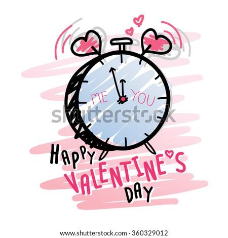 Happy valentines day - stock vector
