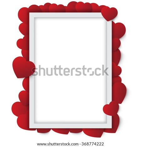 Happy valentines day and frame - stock vector